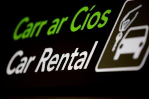 Dublin Airport Car Rental Sign